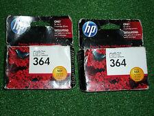 2 x foto originali HP 364 HP364 Nero PHOTOSMART Cartucce Inchiostro data di scadenza 2016