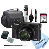 Canon PowerShot G7 X Mark III Digital Camera-32GB SD Card, Case , Tripod, More