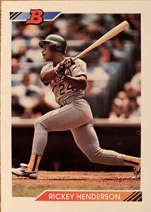 1992 Bowman Rickey Henderson Oakland Athletics #166 HOF.