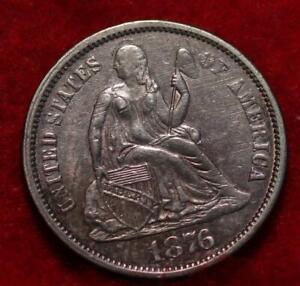 1876 Silver Philadelphia Mint Seated Liberty Dime