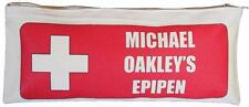 Personalised - Epipen Natural Cotton Zip Case - SUPPLIED EMPTY