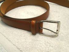 Will Leather Goods Pebbled Baseball Glove Brown Leather  Belt  NWT size 36  $110