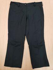 ■262 Nike Golf Dri-Fit Womens Black Sz 6 Capri Pants Outdoor Casual Flat Front