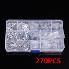 270pcs Assorted Insulated Electrical Wire Terminals Crimp Connectors Spade Set