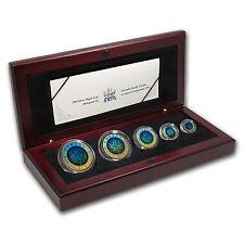 2003 Canada 5-Coin Silver Maple Leaf Set (Hologram) - SKU #47003