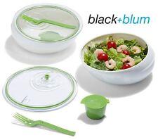 BLACK & Blum Pranzo Cibo Ciotola pentola in bianco e lime