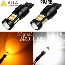 Alla Lighting 7443 7444 T20 LED Switchback White / Yellow for Turn Signal Light