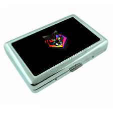 Rainbow Wolf Em4 Silver Metal Cigarette Case RFID Protection Wallet