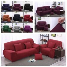 Housse Canapé Spandex Polyester Lycra Fini 1-4 Place Sofa Fauteuil Extensible NF
