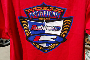 ROBINSON Racing BMX BIKE RED T SHIRT VINTAGE world champions Team 1993 Medium