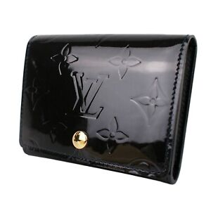 100% Authentic Louis Vuitton LV Bleu Infini Monogram Vernis Card Holder Case