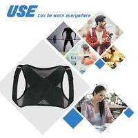 Mens Women Back Posture Corrector Adjustable Shoulder Strap Brace X4T4 B Su X8N2