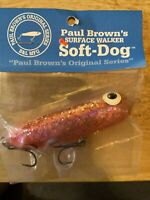 B&L Paul Browns SD-08 Soft Dine Pink Silver 3/8oz Fishing Jerkbait Lure
