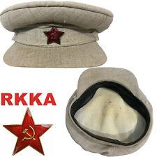 Soviet russian RKKA military Khaki Visor Cap Red Army WWII hat sample 1941