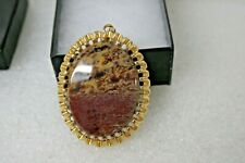 """1-7/8"""" Long X 1-1/2"""" Wide Natural Stone With Gold Filled Bezel"""