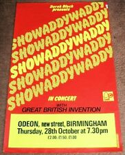 SHOWADDYWADDY CONCERT POSTER THURSDAY 28th OCTOBER 1976 BIRMINGHAM ODEON THEATRE
