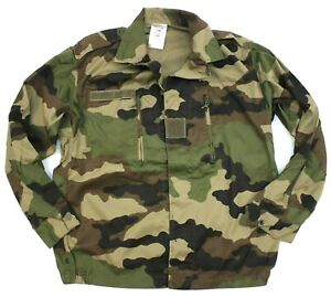 FRENCH ARMY COMBAT JACKET / SHIRT in CCE WOODLAND CAMO UNISSUED