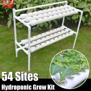 Hydrokultur 45 Löcher Pflanze Rohr Hydroponik Box Bewässerung System Wachsen Kit