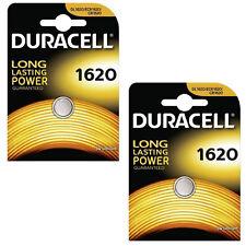 2 confezioni Duracell CR1620 3 V Litio Pulsante Batteria moneta cella 1620 DL1620 BR1620
