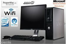 "Fast Dell Desktop Pc Tower 6 Ghz 2x3 Ghz E8400 500GB 4GB Ddr3 19"" Monitor Wi-Fi"