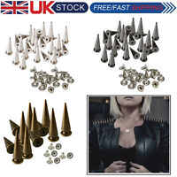 Punk Studs Rivets Spike Long Cone 29x10mm for Leather Crafts Clothes Shoes x 100