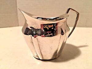 Silver Plate Creamer by Two's Company