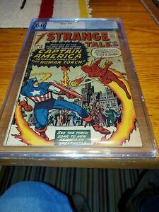 PGX 6.0 Strange Tales #114 Marvel 11/63 1st App. Victoria Bentley & 1st Capt....