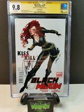 BLACK WIDOW #6 CAMPBELL VARIANT 1:50 SS CGC 9.8 SIGNED BY J. SCOTT CAMPBELL JSC