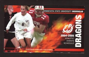 MSU-Moorhead Dragons--2004 Football/Volleyball/Soccer Schedule--State Bank