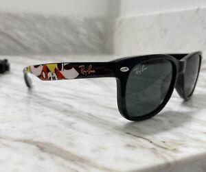 New Ray-Ban DISNEY Junior Wayfarer RJ9052S 47 Black Green Sunglasses Reg.$102.98