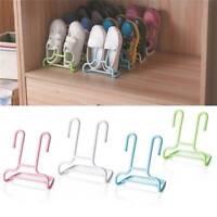 2Pcs/Set Space-saving Organizer Practical Hanging Shoes Rack Shoe Holder Stand