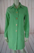Ralph Lauren Spring Coat Petite S Lime Lightweight Cotton Poly Nylon Blend CHIC!
