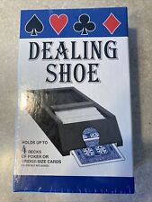 Vintage Jax Dealing Shoe. Spring Loaded. Holds 4 Decks. Model 5005. Sealed Box.