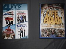 5 Comedy Movie Dvd Lot Life of Brian The Three Stooges Gullivers Travels