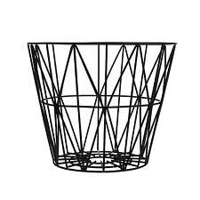 ferm Living - Wire Basket schwarz small Korb Drahtkorb