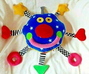 "Manhatten Toy Whoozit Plush Baby Toy 2002 Squeak Crinkle Rattle 10"" Mirror"