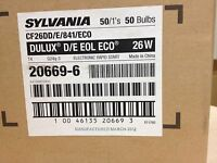10 PIECES SYLVANIA 20669 CF26DD//E//841//ECO DULUX D//E 26w 4-PIN G24Q-3 CF BULB