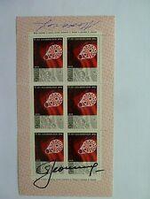 More details for russian cosmonaut alexei leonov signed stamp pane