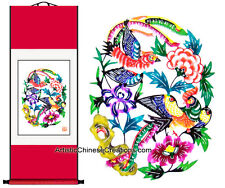 Chinese Home Decor Chinese Wall Scroll - Chinese Paper Cuts / Happy Couple