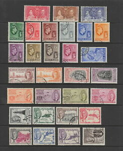 Virgin Islands , 1937 - 1952 KGVI fine used collection, 30 stamps
