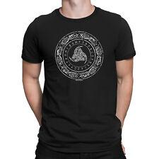 ODINS HORN SYMBOL Mens Viking T-Shirt Vikings Thor Ragnar Nordic Mythology Top