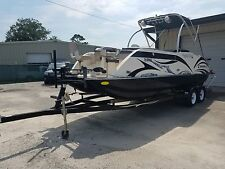 2014 Caravelle Razor 236 FR Deck Boat Like Tri Toon Mercury 175 Fast No Reserve!