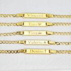 18K Gold Filled Baby Id Bracelet With Free Engraving 6' adjustable Chain