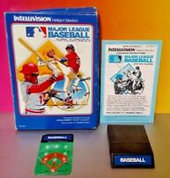 Major League Baseball MLB - Intellivision Cartridge Box Manual Tested Complete