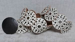FOSSIL - Women's Belt - OFF WHITE Leather - LEATHER DISK CONCHOS DESIGN - Size S