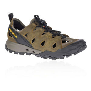 Merrell Mens Choprock Leather Sieve Shoes Sandals Brown Sports Outdoors
