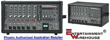 Phonic PPOD620R 200 watt, 6-Channel Powered Mixer with USB Recorder/Playback