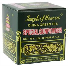 Temple Of Heaven Special Gunpowder Gun Powder Green TEA - 250G Loose Rolled Leaf