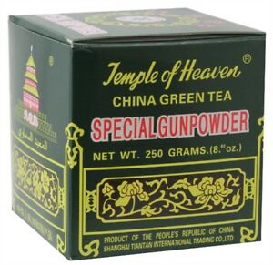 Temple Of Heaven Special Gunpowder Gun Powder Green TEA - 250G Loose Rolled Leaf