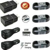 For OEM SAMSUNG Galaxy S10 S9 S8 Plus Note10 Fast Wall Car Charger Type-C Cable